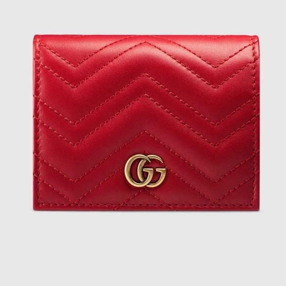 71f3892d5 Gucci Accessories | Gg Marmont Card Case | Poshmark